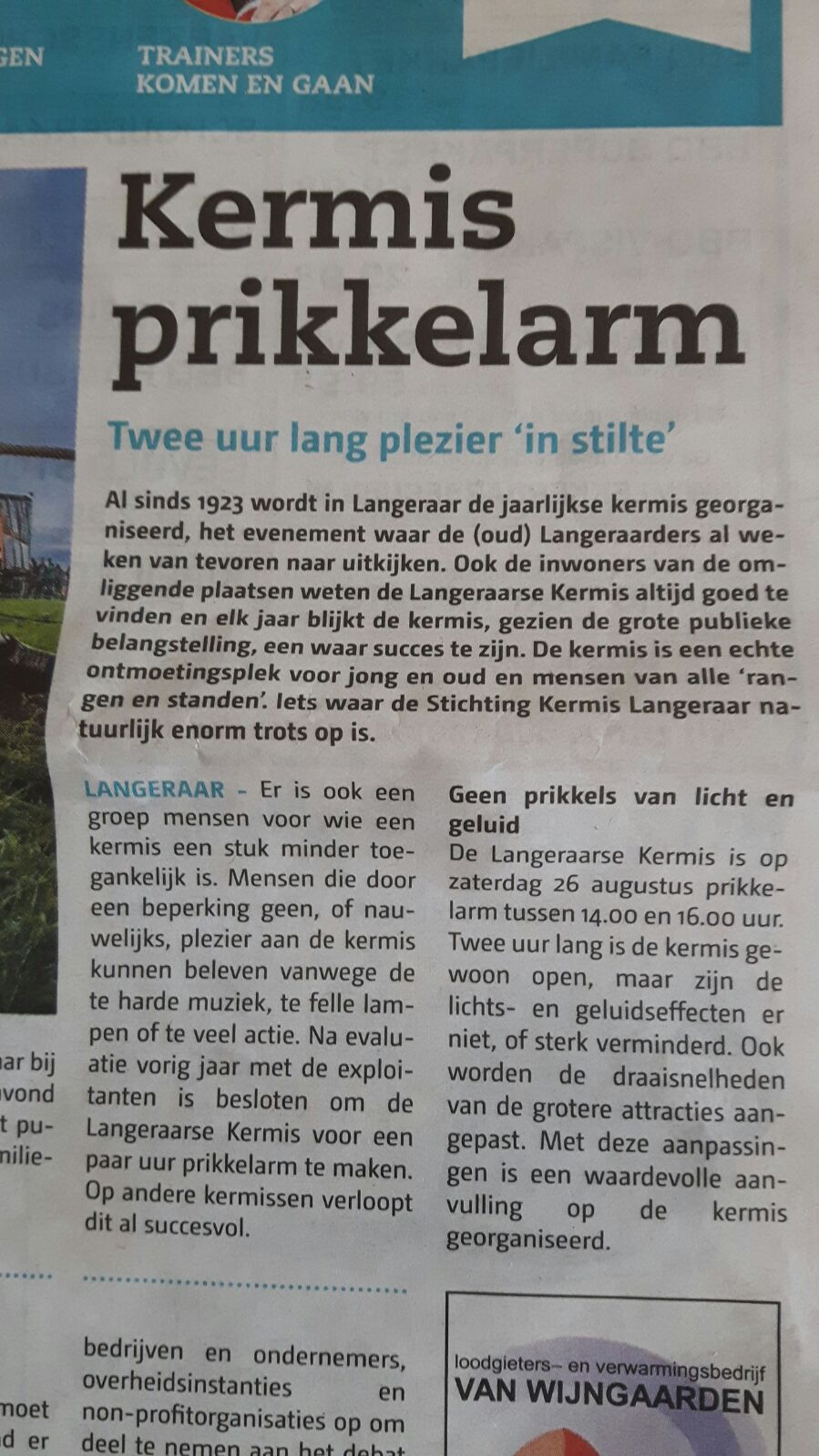 Prikkelarm Alphens Nieuwsblad